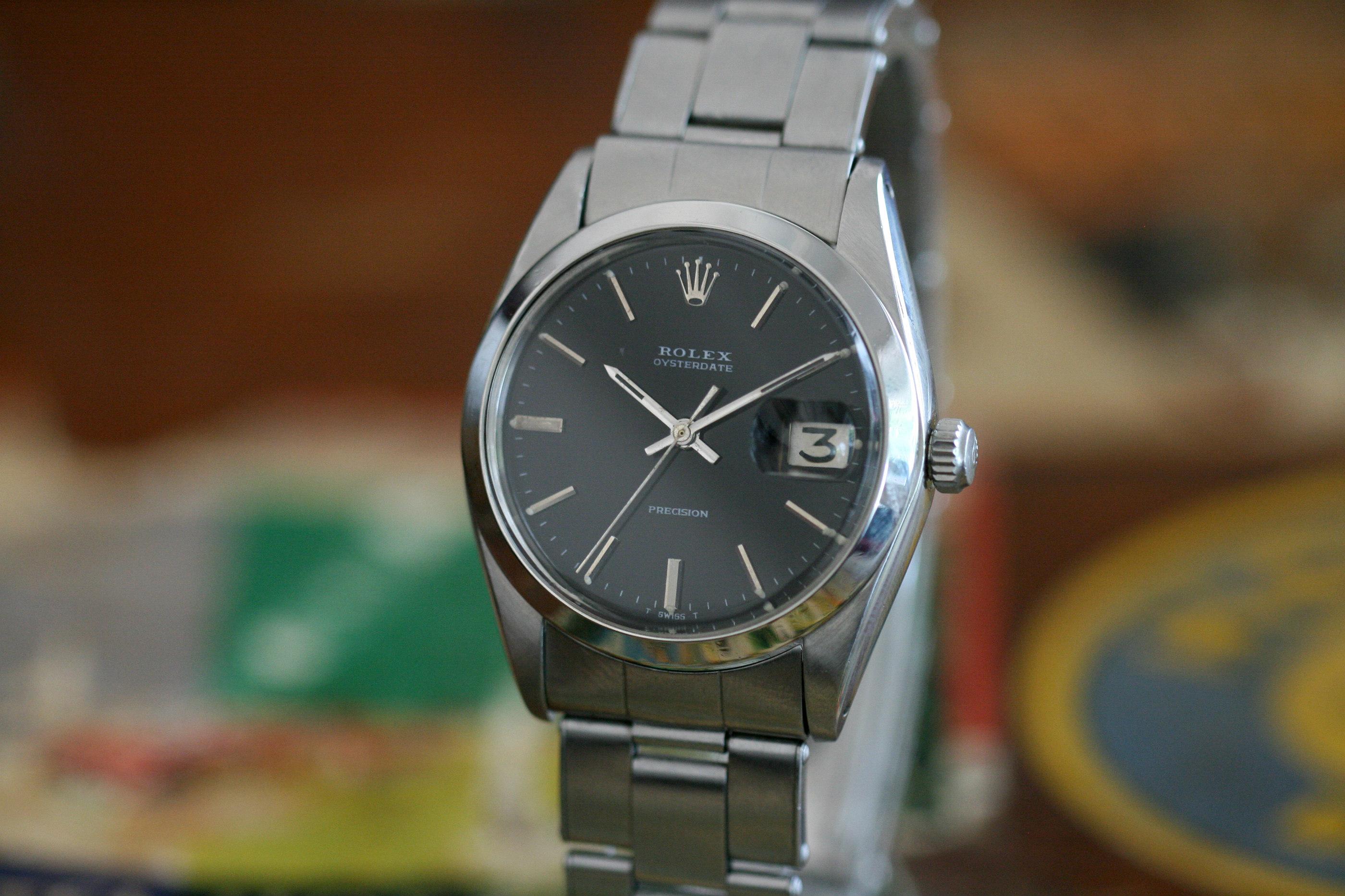 rolex Precision black dial
