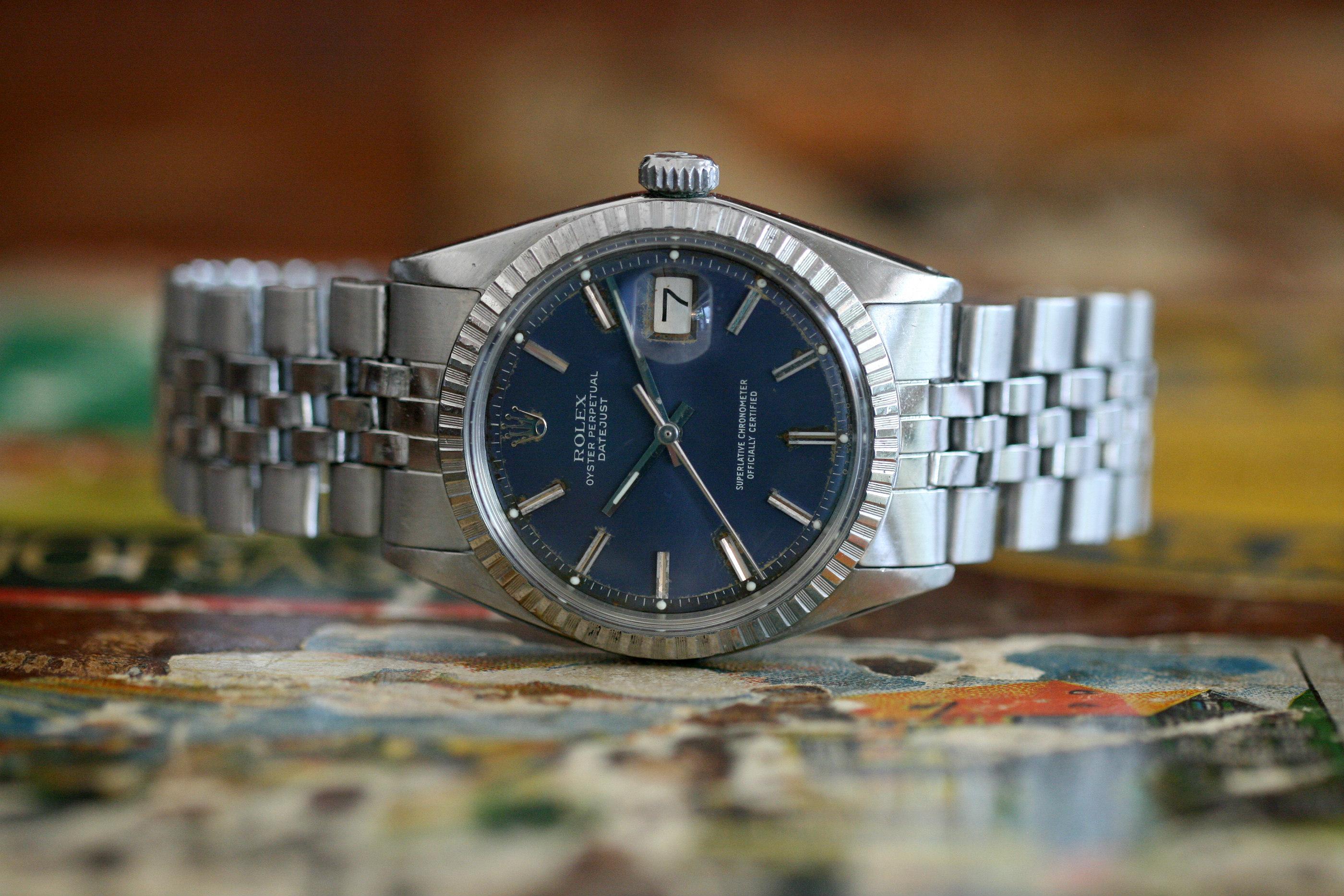 Rolex Datejust 1603 Blue Dial