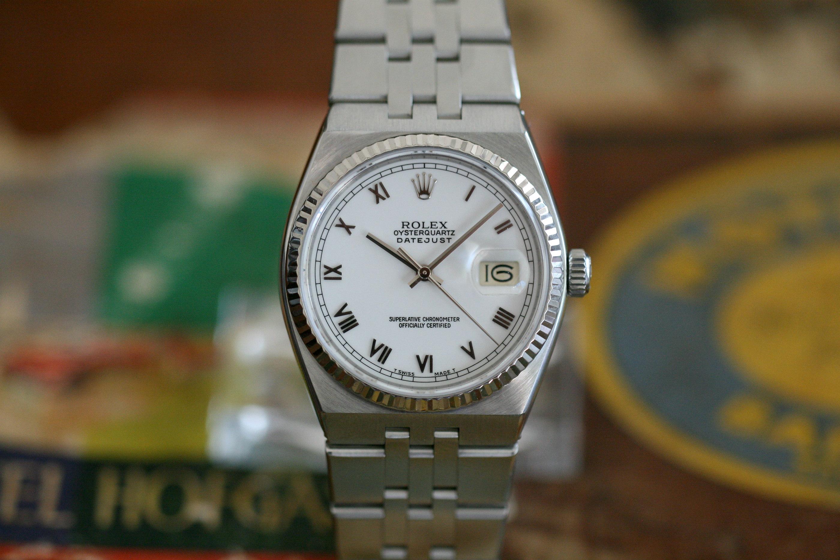 Rolex Oysterquartz 17014 St/Wg Top Zustand